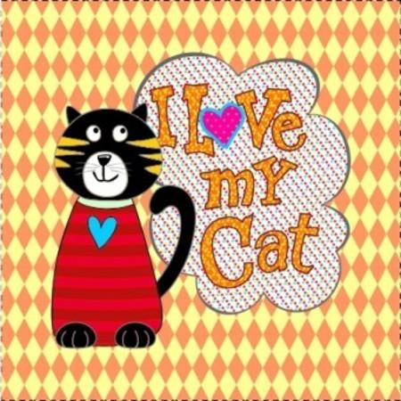 AFONSO FRANCO - TRICOLINE ESTAMPA DIGITAL - PATCH I LOVE MY CAT