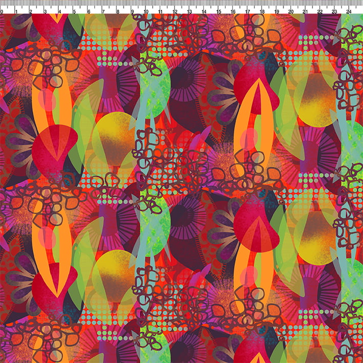 TECIDO PARA PATCHWORK - AFONSO FRANCO - TRICOLINE ESTAMPA DIGITAL - GUARACI