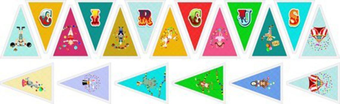 Painel Bandeirolas Circo