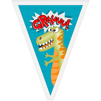 Painel Bandeirolas Dinossauro