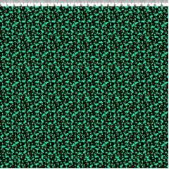 TECIDO TRICOLINE  - AFONSO FRANCO - ESTAMPA DIGITAL - FAT QUARTER ESTAMPA MINI FLORES VERDE 50x75 cm
