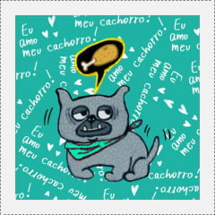 AFONSO FRANCO - TRICOLINE ESTAMPA DIGITAL - PATCH EU AMO MEU CACHORRO