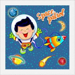 TECIDO TRICOLINE ESTAMPADO SPACE PATROL PATCH AFONSO FRANCO