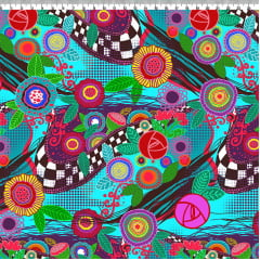 TECIDO PARA PATCHWORK - AFONSO FRANCO - TRICOLINE ESTAMPA DIGITAL - FLORAL MAYFLOWER